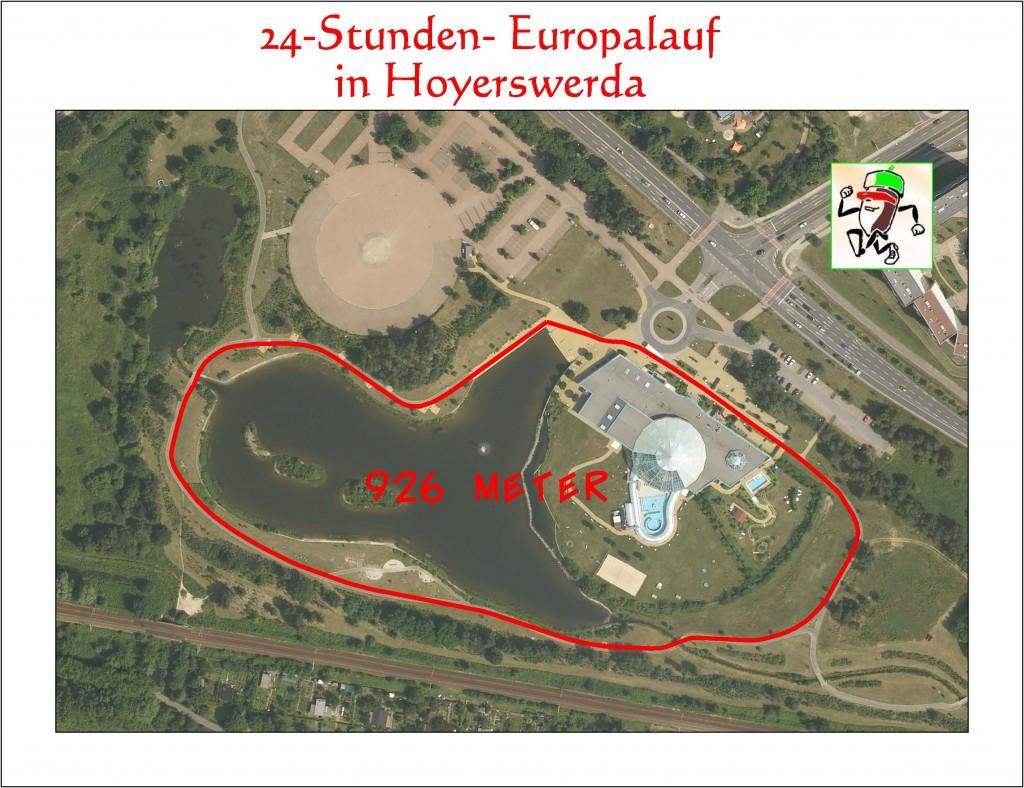 Die Strecke des 24h Lauf 2008
